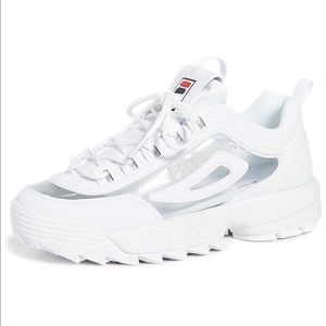 FILA disruptor II with clear sides NWT